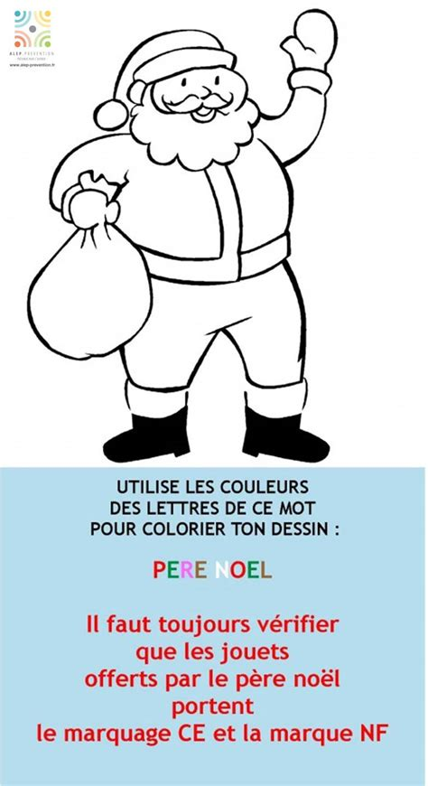 la vie siege social père noël coloriage magique prévention accidents