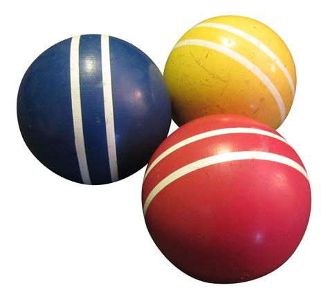 primary color croquet balls set   chairish
