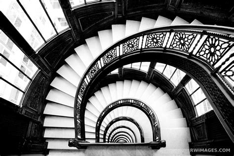 Photo Print Of Rookery Building Staircase Chicago Black