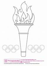 Olympic Olympics Torch Special Games Drawing Winter Crafts Coloring Craft Paper Colouring Template Rings Sports Gymnastics Preschool Mosaic Let Antorcha sketch template