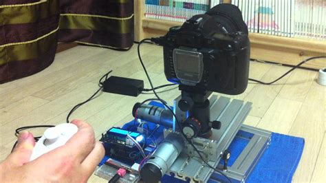 nunchuck wii diy motorized tilt pan 1st test arduino wii