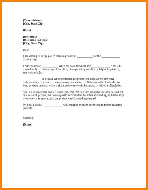 exle letters of recommendation scholarship letter of recommendation 30 sle letters of 39603
