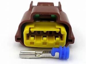 3 Way Brown Yellow Lock Sensor Wiring Harness Connector Plug