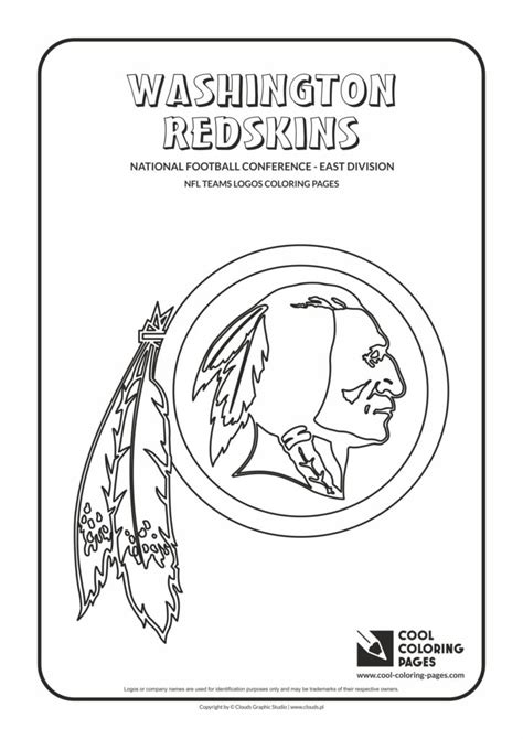 cool coloring pages washington redskins nfl american football teams logos coloring pages