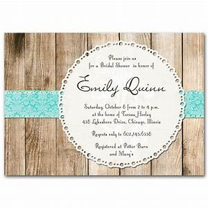 Bridal shower invitation rustic vintage gender neutral by for Rustic wedding shower invitations
