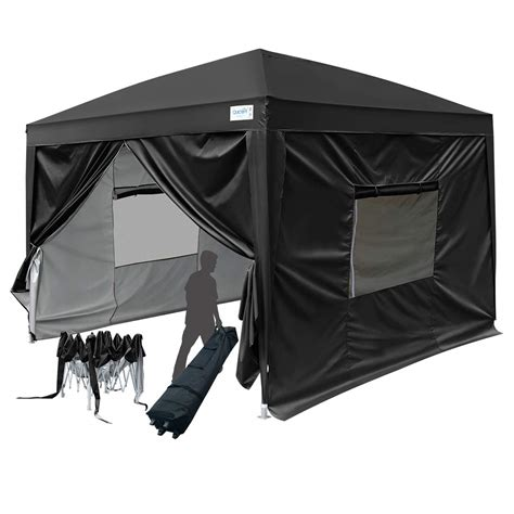 upgraded quictent privacy  ez pop  canopy party tent gazebo  sidewalls  wheeled