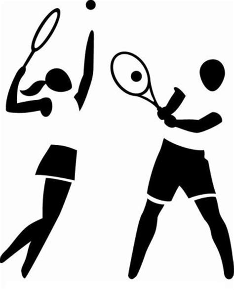 tennis player clipart black and white tenis en alicante home