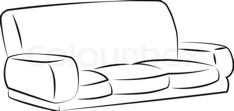 sofa outline vector black outline vector sofa on white background stock
