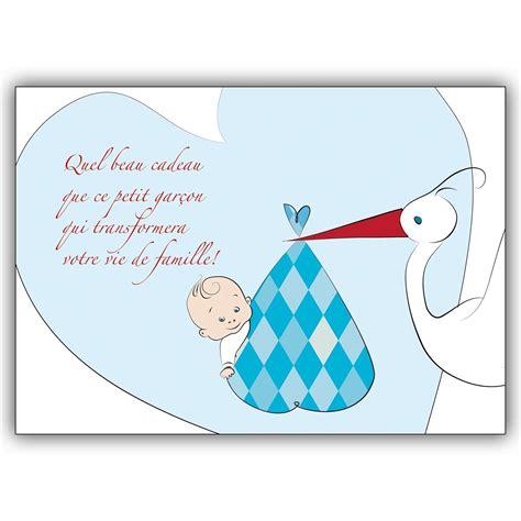 franz 246 sische babykarte junge gl 252 ckwunsch zur geburt mit