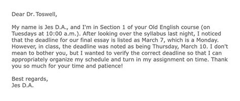 how to write an email to a professor about missing class