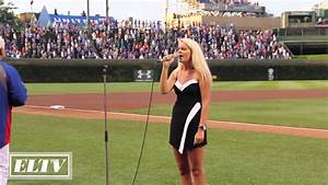 Elizabeth Lyons National Anthem Live at Wrigley Field ...
