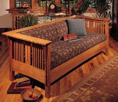 loveseat plans arts and crafts mission sofa and chair woodworking plan