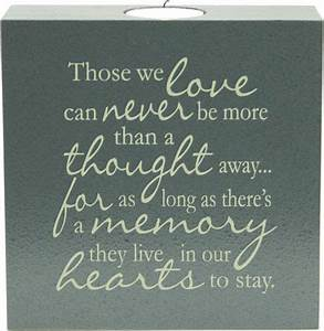 memorial poems for loved ones   Those We Love - Tealight ...