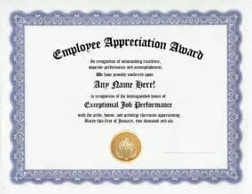 Volunteer Appreciation Award Certificates