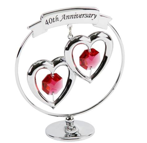 40th wedding anniversary ruby wedding anniversary swarovski crystal