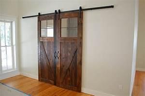 reclaimed oak sliding barn doors rustic living room With barn doors orlando