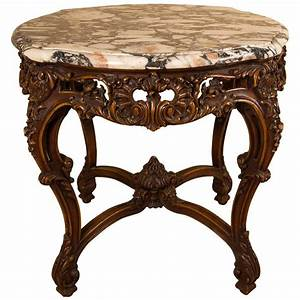 louis xv style carved coffee table with a marble top by With louis xv coffee table
