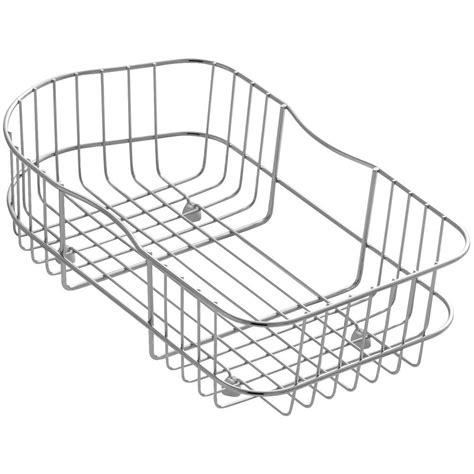 kitchen sink baskets kohler staccato wire rinse basket k 3368 st the home depot 2581