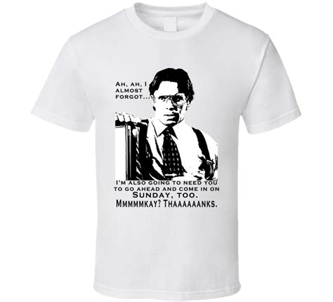 Office Space Gangster by Bill Lumbergh Office Space T Shirt