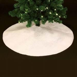 Tapis Blanc Rond : tapis de sapin rond blanc accessoires pour sapin eminza ~ Dallasstarsshop.com Idées de Décoration