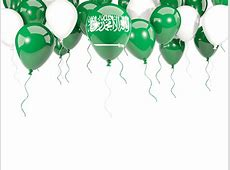 Balloon frame with flag Illustration of flag of Saudi Arabia