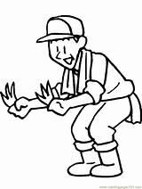 Farmer Coloring Pages Farmers Gardener Printable Dell Drawing Cartoon Clipart Cliparts Coloringpagebook Print Library Farm Clip Coloringpages101 Bingo Tools Popular sketch template