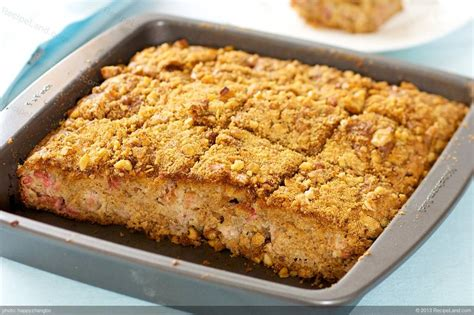 Best Rhubarb Recipes by Best Rhubarb Cake Recipe Recipeland