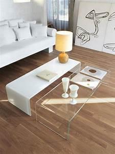 Table Salon Blanche : table basse salon blanche id es de d coration int rieure french decor ~ Teatrodelosmanantiales.com Idées de Décoration