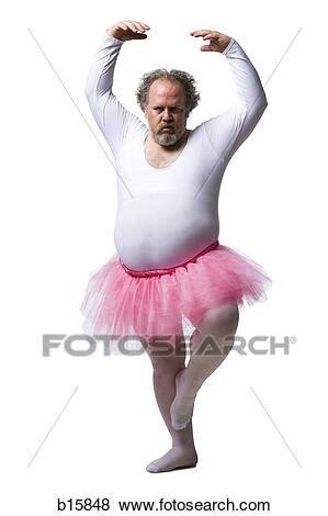 bilder uebergewichtige mann  tutu tanzen