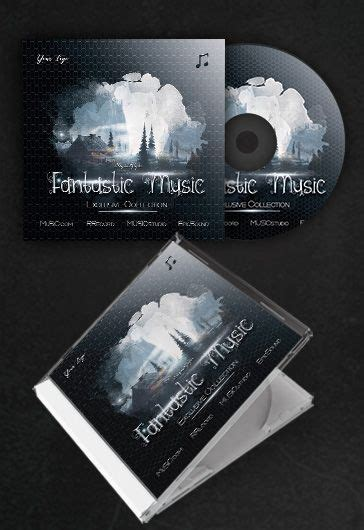 fantastic   cd cover psd template  elegantflyer