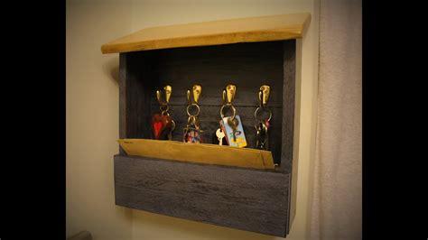 diy pallet wood key holder youtube