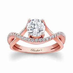 barkev39s rose gold engagement ring 7913lpw With wedding rings with rose gold
