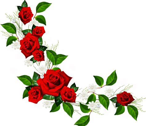 rose border  clipartioncom