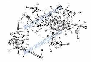Johnson Carburetor Group Parts For 1957 3hp Jw