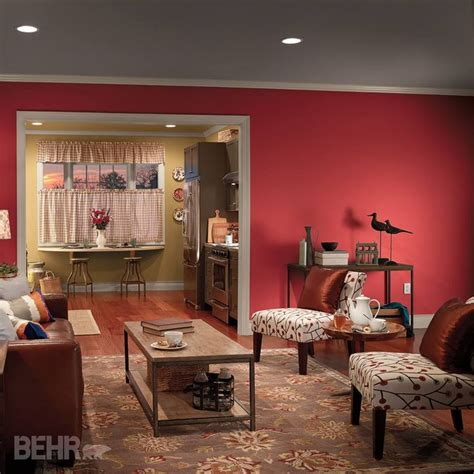 skip a neutral ceiling and opt for one with color main wall california poppy s g 160 back wall