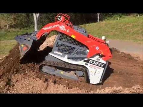 takeuchi tl  rubber tracked skidsteer loader  tilting   bucket youtube