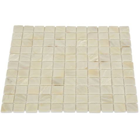 of pearl oyster white glass tile tilebar