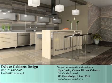 Deluxe Kitchen Cabinets by Deluxe Custom Kitchen Cabinets
