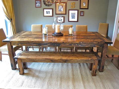 how to build a dining room table with how to make farmhouse benches aptsforrent