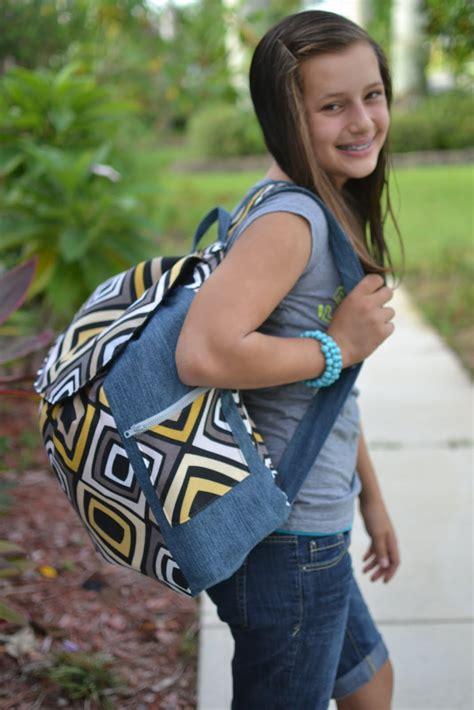 Blue Susan Makes Back To School Backpack