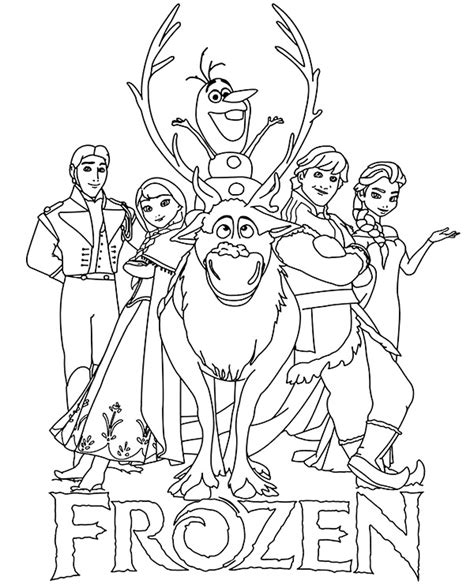 Coloring Frozen All by Logo And Characters Frozen Coloring Pages For Children