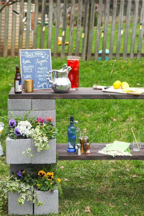 cinderblock bar  planter hgtvs