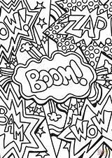 Coloring Pages Boom Wow Zap Printable Culture Pow Pop Adult Supercoloring Arts Drawing Geeksvgs Kunst Ausmalen Malvorlagen Fuer Crafts Ausmalbilder sketch template