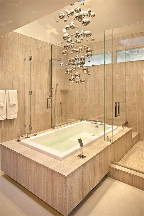 Modern Chandelier Bathtub by 25 Sparkling Ways Of Adding A Chandelier To Your
