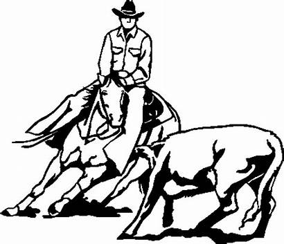 Horse Team Roping Penning Clipart Clip Silhouette