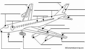Label The Airplane  2 In English Printout