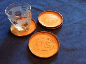 Leather, Drink, Coasters, Us, Set, Of, 4