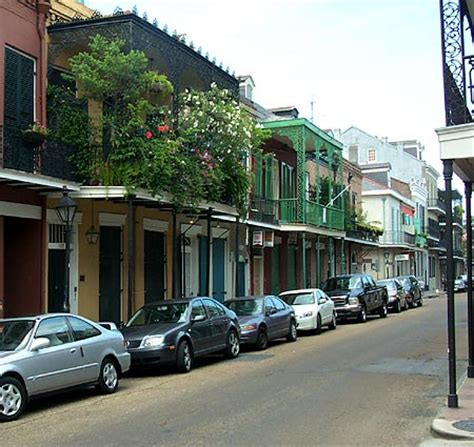 San Diego Hotels With Balcony by New Orleans French Quarter Balcony Lined Street