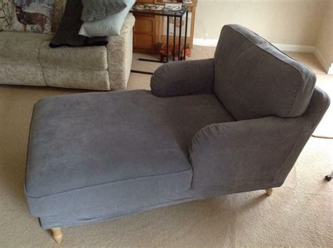Ikea Stocksund In Tallmyra Grey Chaise Longue-nearly New