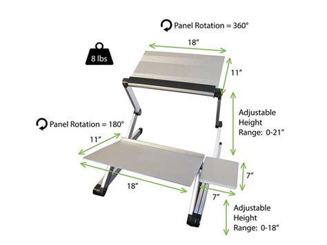 Ergonomics Workez Executive Standing Desk by Uncaged Ergonomics Standing Desk Conversion Kit Silver